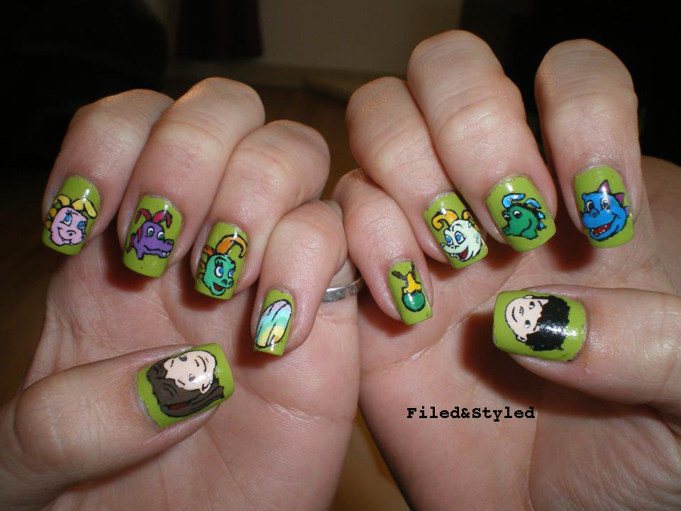 dragon tales nails