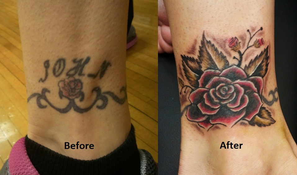 Name Cover Up Tattoos