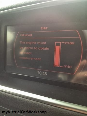 Myvirtualcarworkshop how to check your engine oil level for Audi q5 motor oil