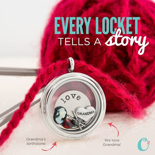 Grandma Origami Owl Living Locket | Create yours today at StoriedCharms.com