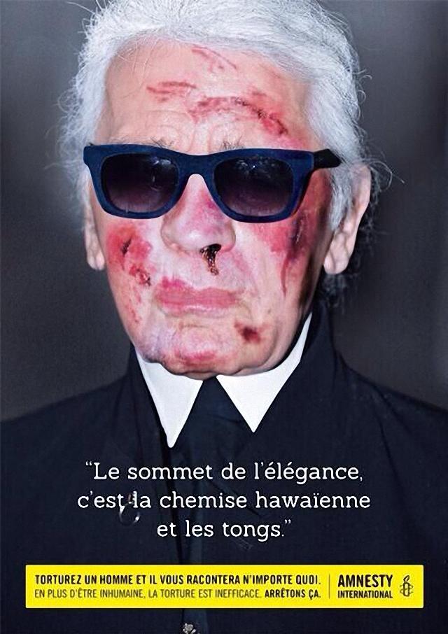 Golpean a Karl Lagerfeld (Chanel)