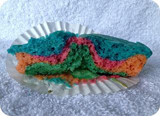 Egg Free Tie Dye Rainbow Cupcakes