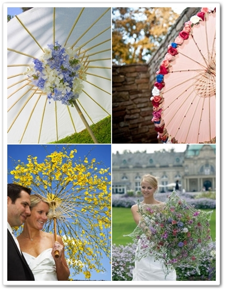 paraply gjort av blommor, parasoll gjort av blommor, umbrella made by flowers, parasol made by flowers
