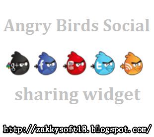 Membuat Widget Profiles Cantik  Sosial Angry Birds Untuk Blogger