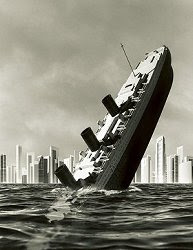 Sinking ship