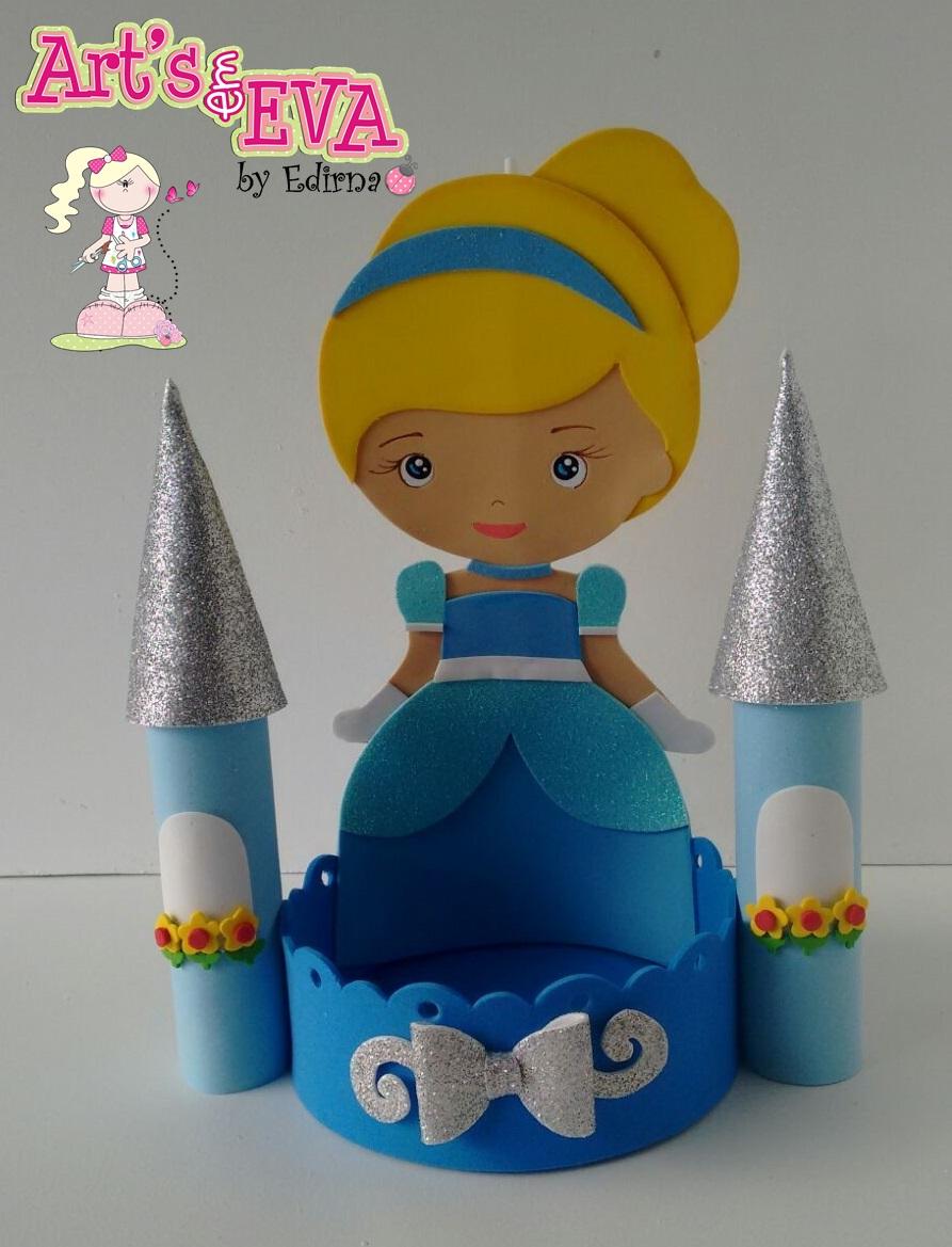 Muito ♥ Ateliê by Edirna ♥: centro de mesa princesas em eva JV39
