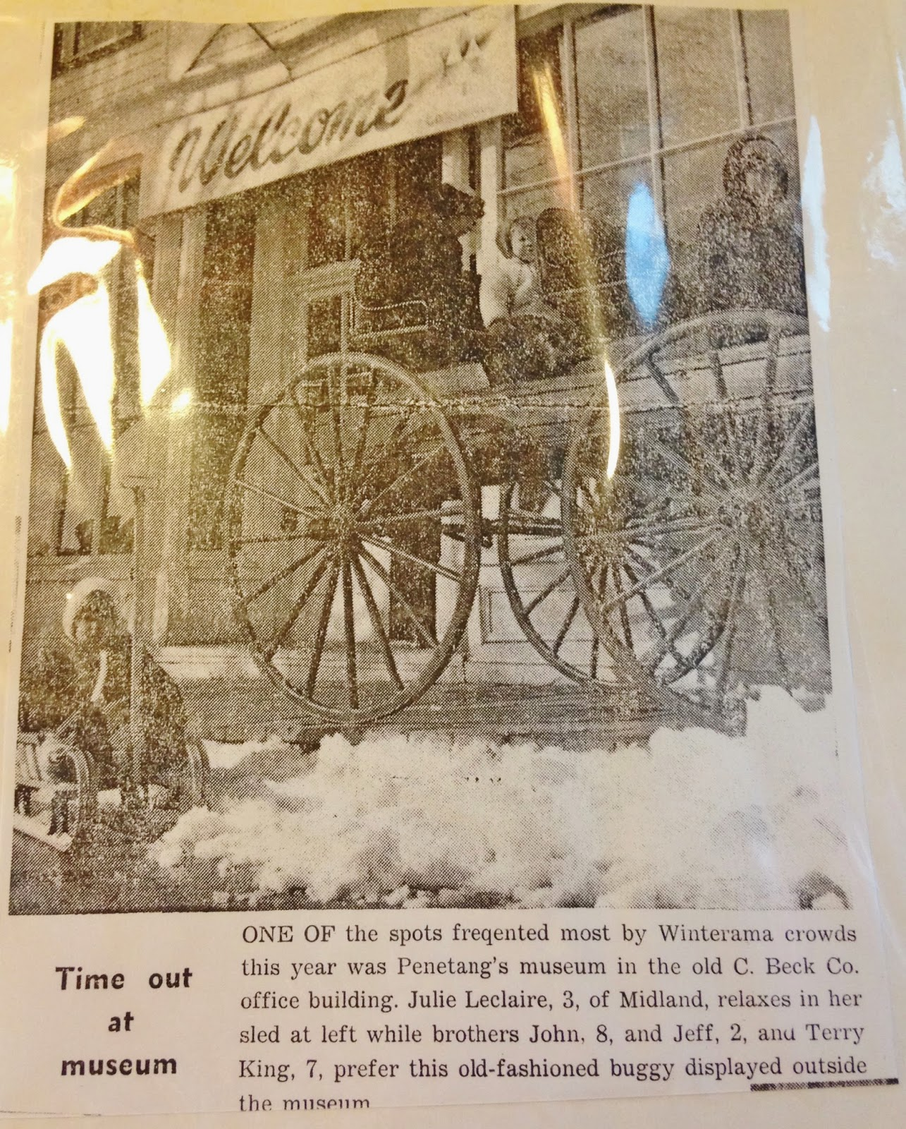 source: author's photo of archival material on display at the Penetanguishene Centennial Museum.