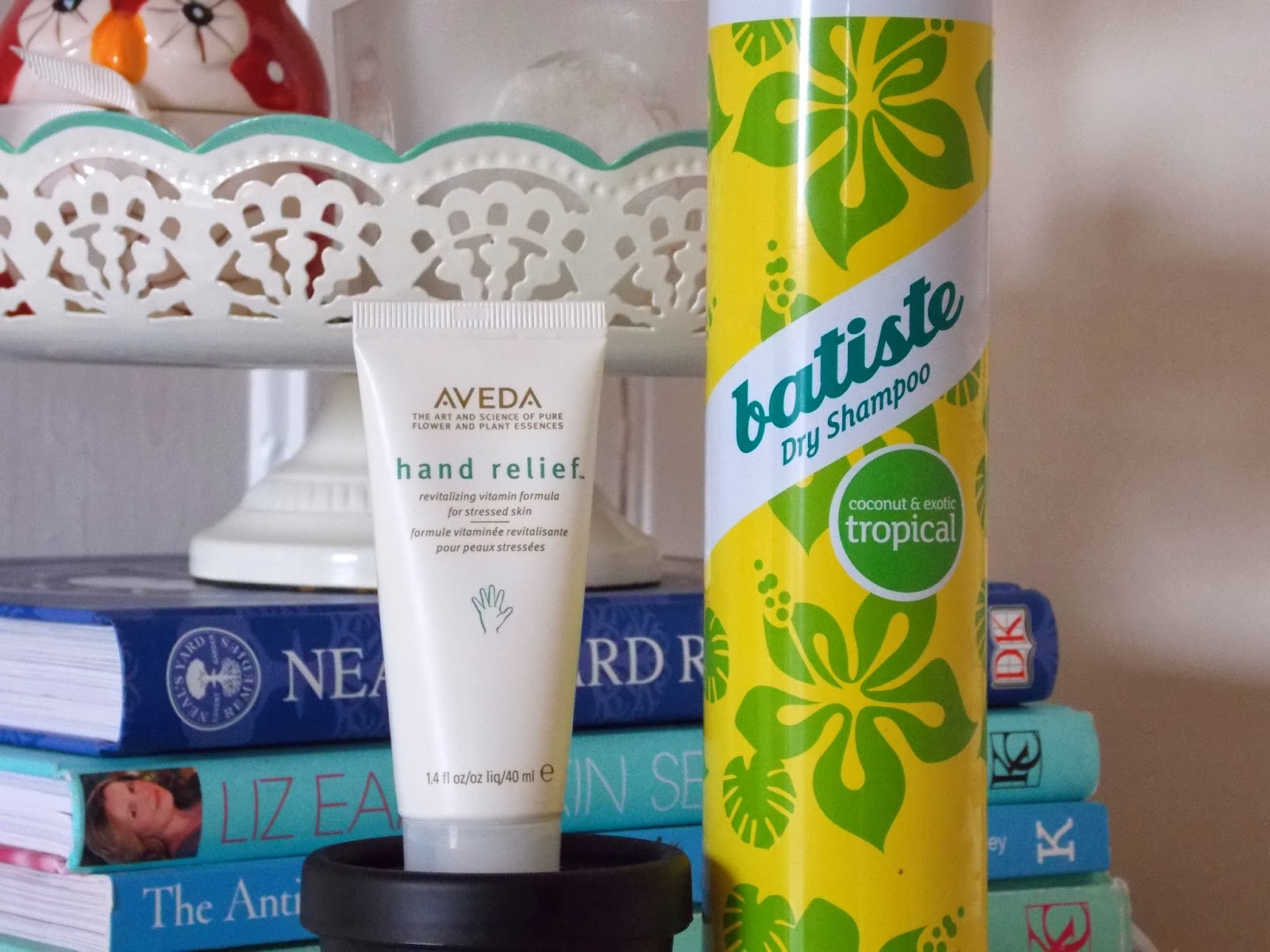 Aveda Hand Relief and Batiste Dry Shampoo Tropical
