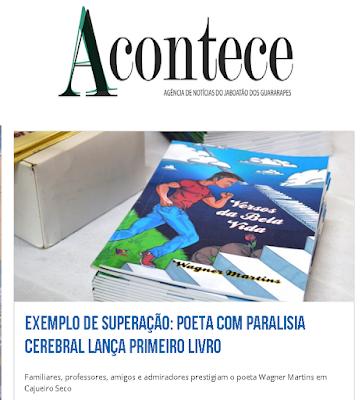 Cobertura pela imprensa Acontece do lançamento do livro do autor Wagner Martins