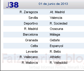 Jadwal Liga BBVA 2012 - 2013 Primer and Sekunder - Jadwal Liga BBVA 2012 - 2013 Terbaru - Jadwal Liga BBVA 2012 - 2013 Trans 7 dan Trans TV - Jadwal Liga BBVA 2012 - 2013 Spanyol - Jadwal Liga BBVA 2012 - 2013 Lengkap - Jadwal Liga BBVA 2012 - 2013 Update
