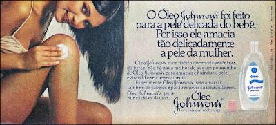 propaganda óleo Johnson's - 1978; Johnson's & Johnson's anos 70; propaganda antiga; os anos 70; propaganda na década de 70; Brazil in the 70s, história anos 70; Oswaldo Hernandez;
