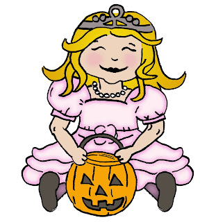 halloween pink princess to costume for girls scrapbooking original design clip art digi stamp