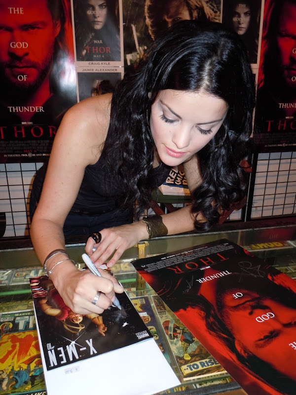 Jaimie Alexander Sif Thor signing