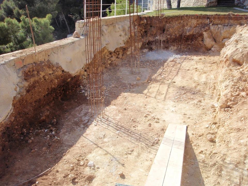 Fases de construcci n de una piscina que realizamos for Ladrillos para piletas