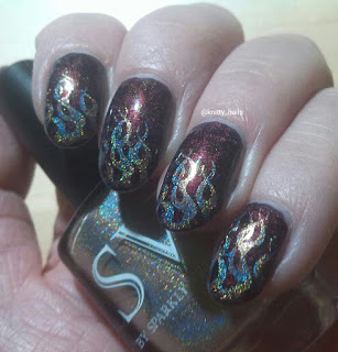 SV By Sparkly Vernis Gilded Lemon Drops  and Messy Mansion MM27