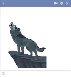 Howling Wolf Facebook Sticker