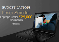 Amazon India : Budget Laptops upto 40% off under Rs. 25000