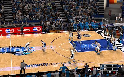 NBA 2K14 Orlando Magic HD Court Mod