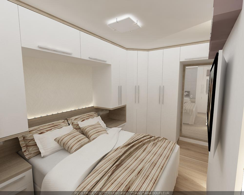 Dormit rio casal ana boufleur arquitetura for Dormitorio para quarto pequeno