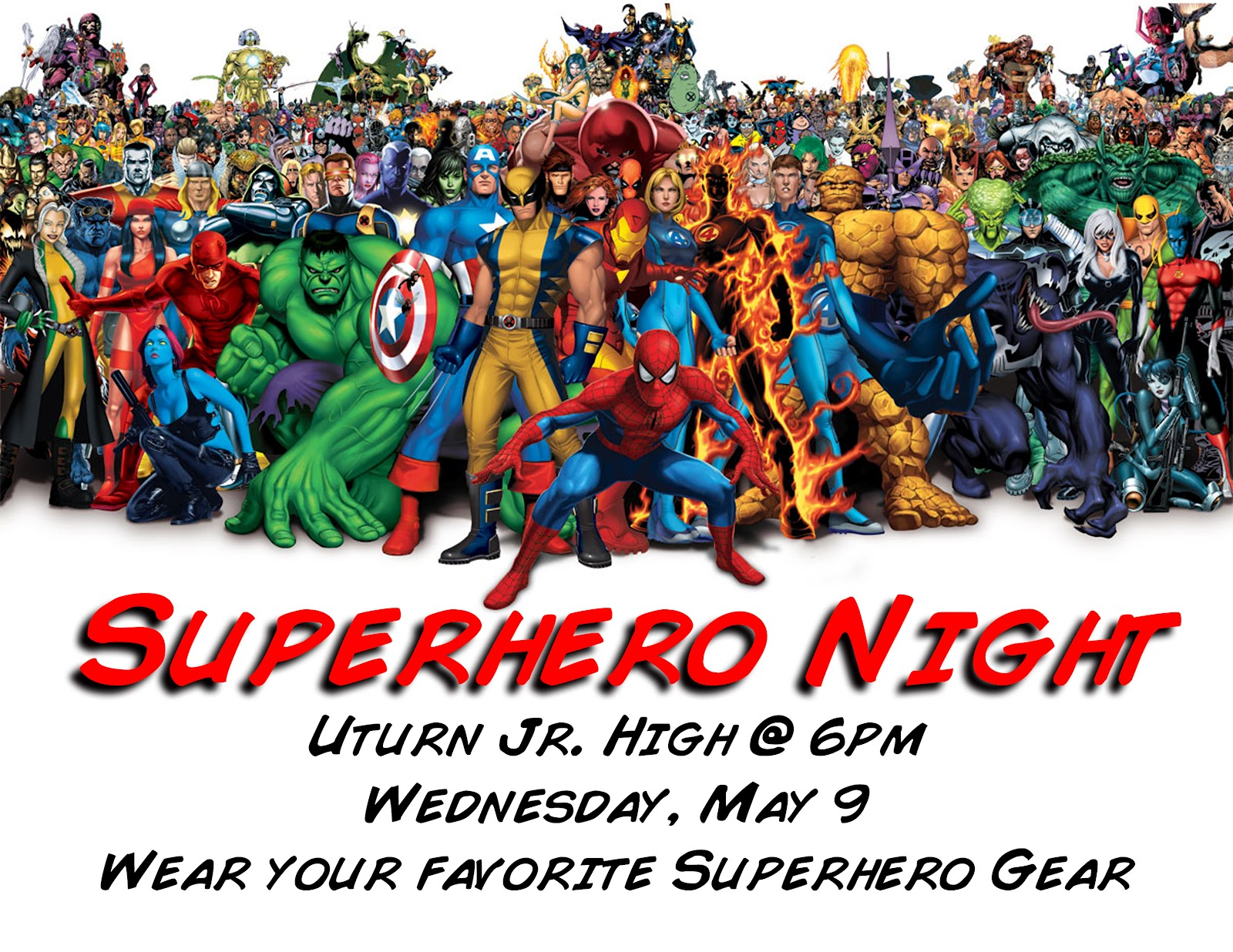 awesome night. We will all wear Superhero gear, we39;ll play Superhero