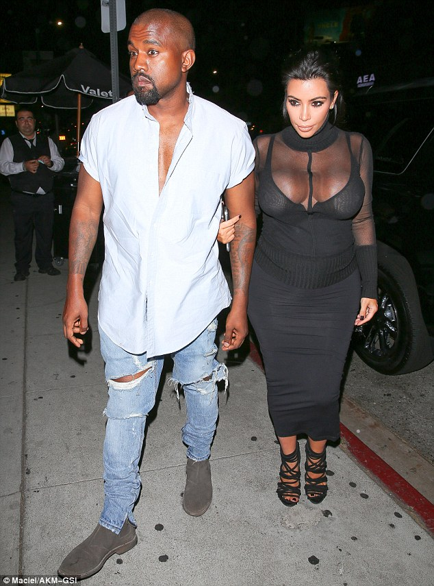 Kim Kardashian shows off extreme cleavage at Kylie's 18th Birthday Party‏