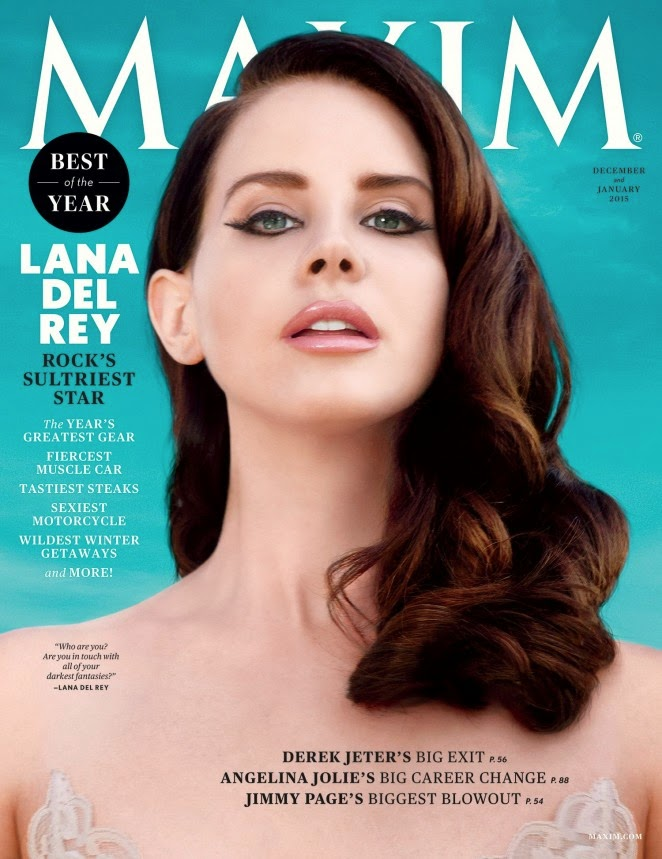 Lana Del Rey poses in lingerie for Maxim December/January 2014/15