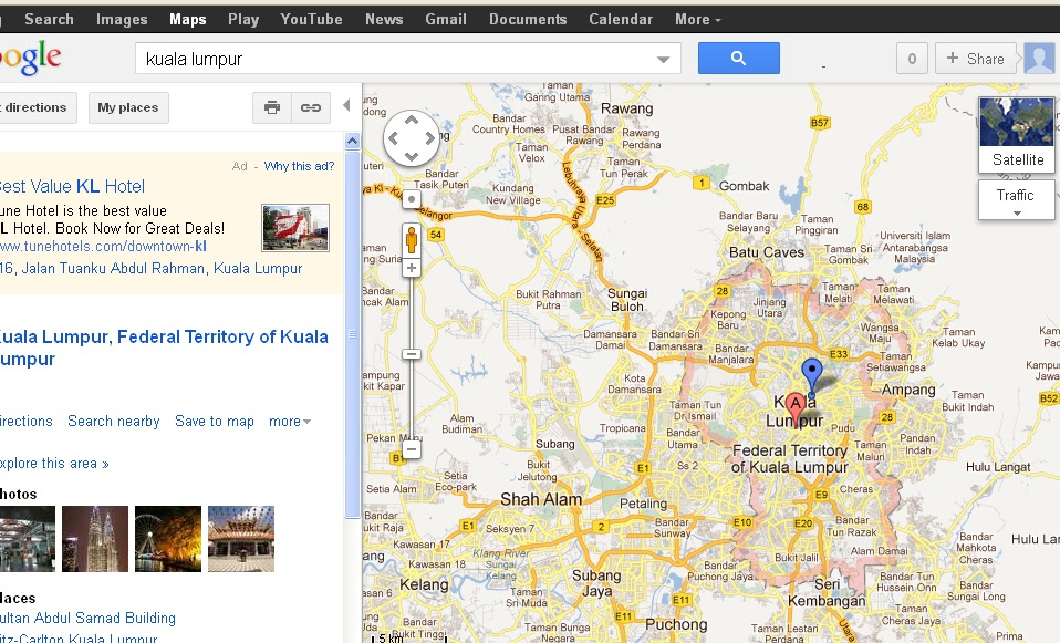Tutorial: How to search routes using Google Maps for Kuala Lumpur ...