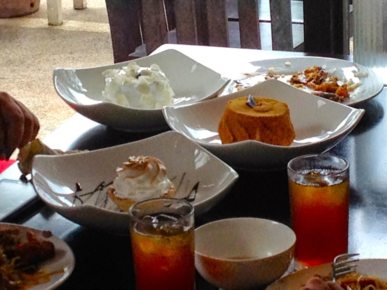 Mango Float, Calamansi Custard Meringue, Cakes at Isidra Comfort Cantina
