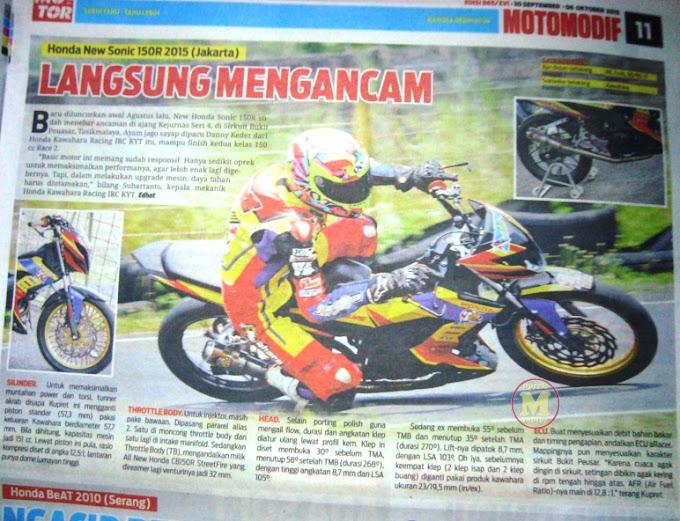 Intip Ubahan New Sonic 150R Honda Kawahara Racing IRC KYT Yuk