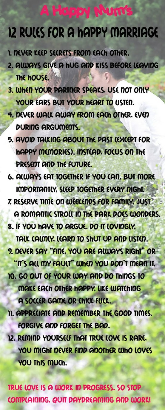 The samantha show 12 rules for a happy marriage