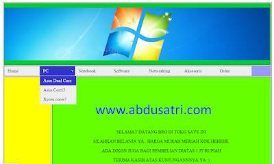 cara membuat menu blog di dreamweaver