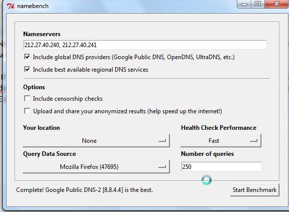 Tester serveur DNS