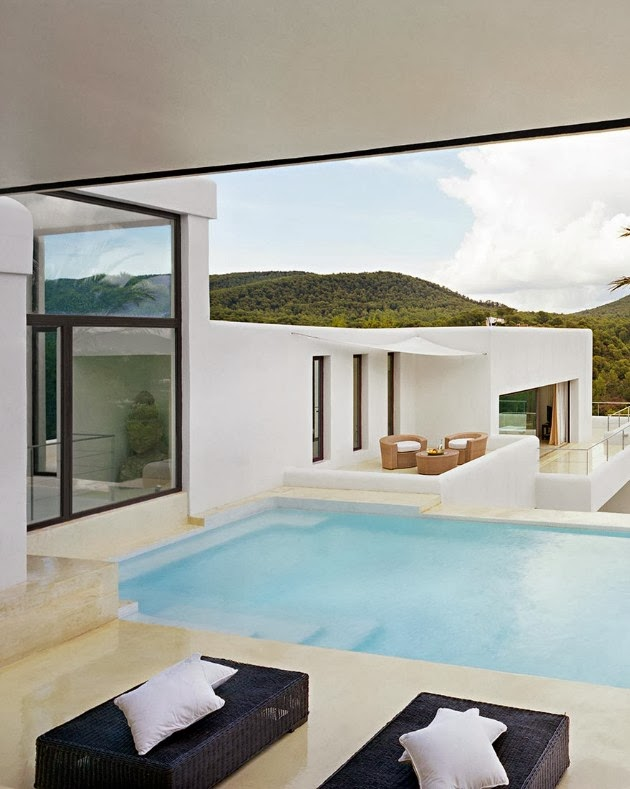 Terrace and swimming pool in Ibiza dream home by Jaime Serra