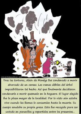La terrible y verídica muerte de Alain de Monéys. (Con ilustraciones originales de E. de Pesadilla)