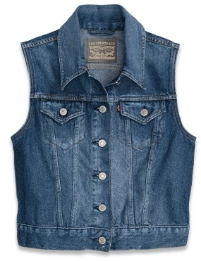 Women's Denim Trucker Vest
