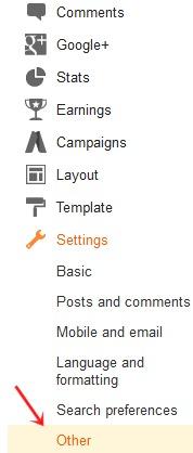 cara menggunakan menu impor blog
