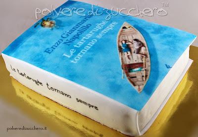 torta libro cake book le tartarughe tornano sempre polvere di zucchero cake design pasta di zucchero cialda