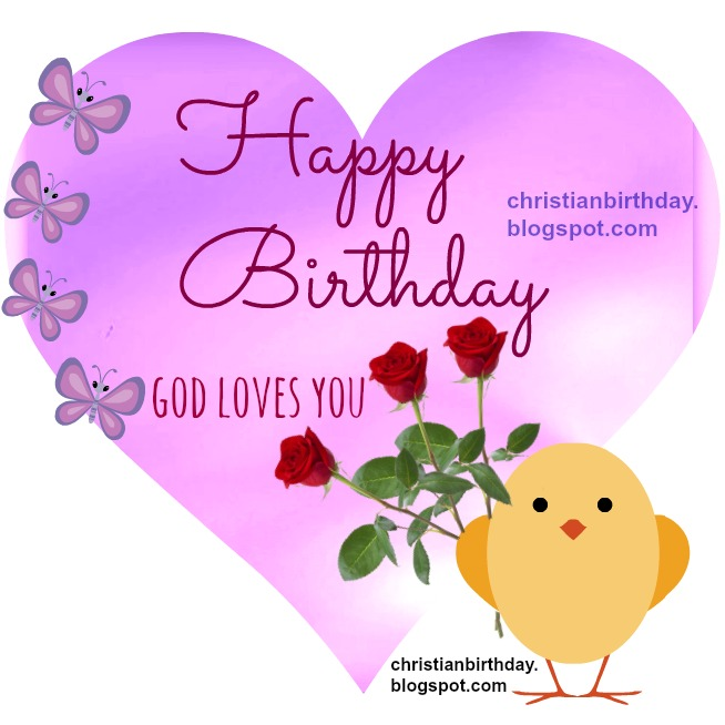 I wish you a happy birthday Christian Card – Religious Birthday Card Messages