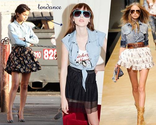 Comment bien porter une chemise en jean forum mode - Chemise en jean femme comment la porter ...