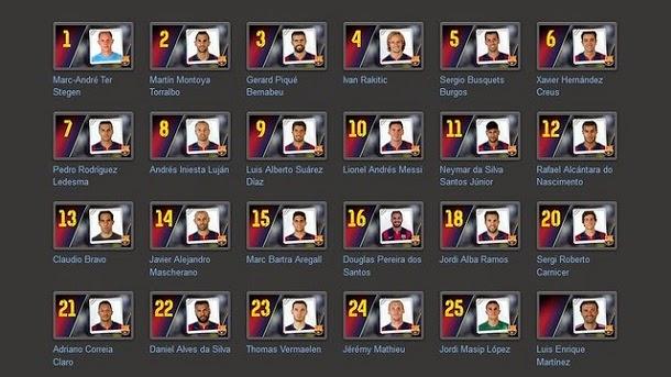 Image Result For Futbol Club Barcelona Dorsales