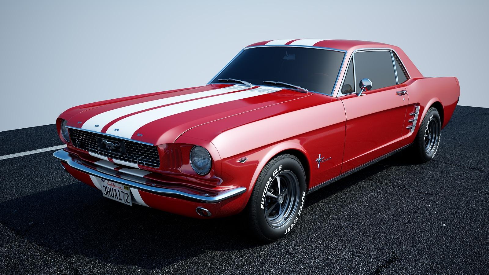 andrej stefancik automotive cg ford mustang 1966 coupe. Black Bedroom Furniture Sets. Home Design Ideas