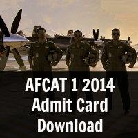AFCAT 1 2014 Admit Card Download