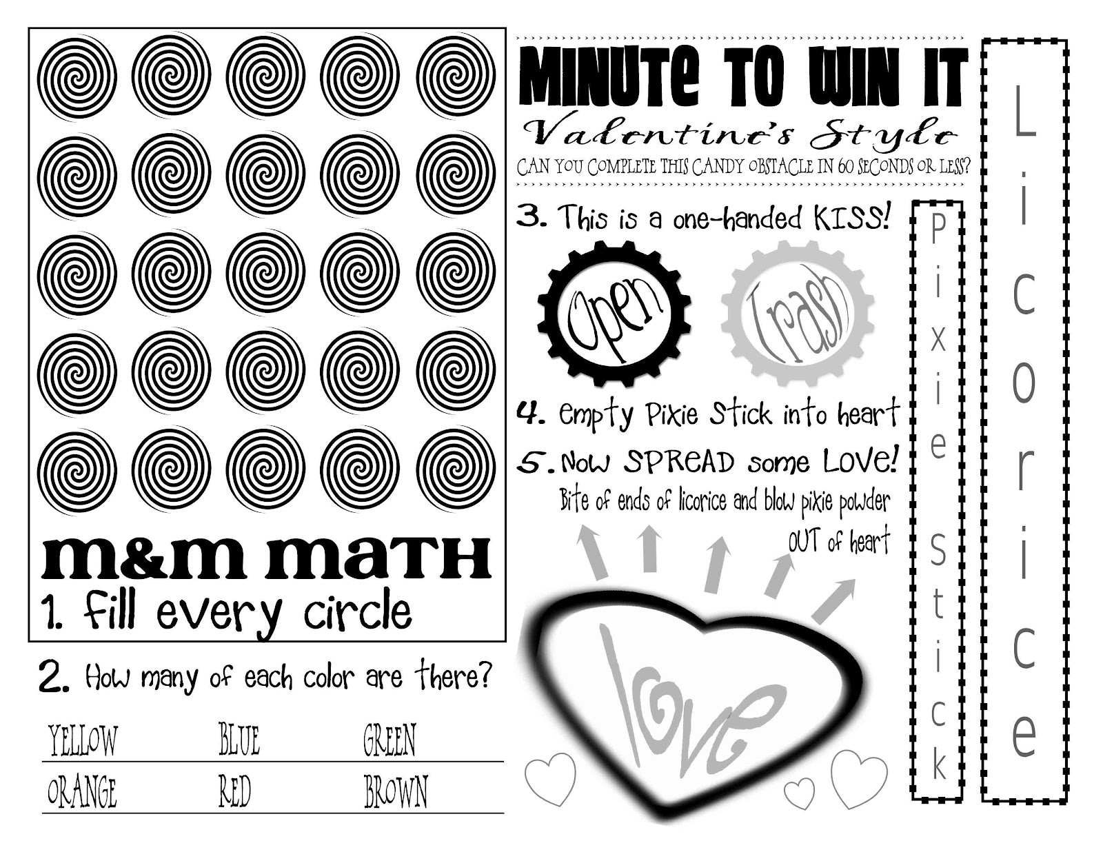 valentines minute to win it game printable - Valentine Minute To Win It Games