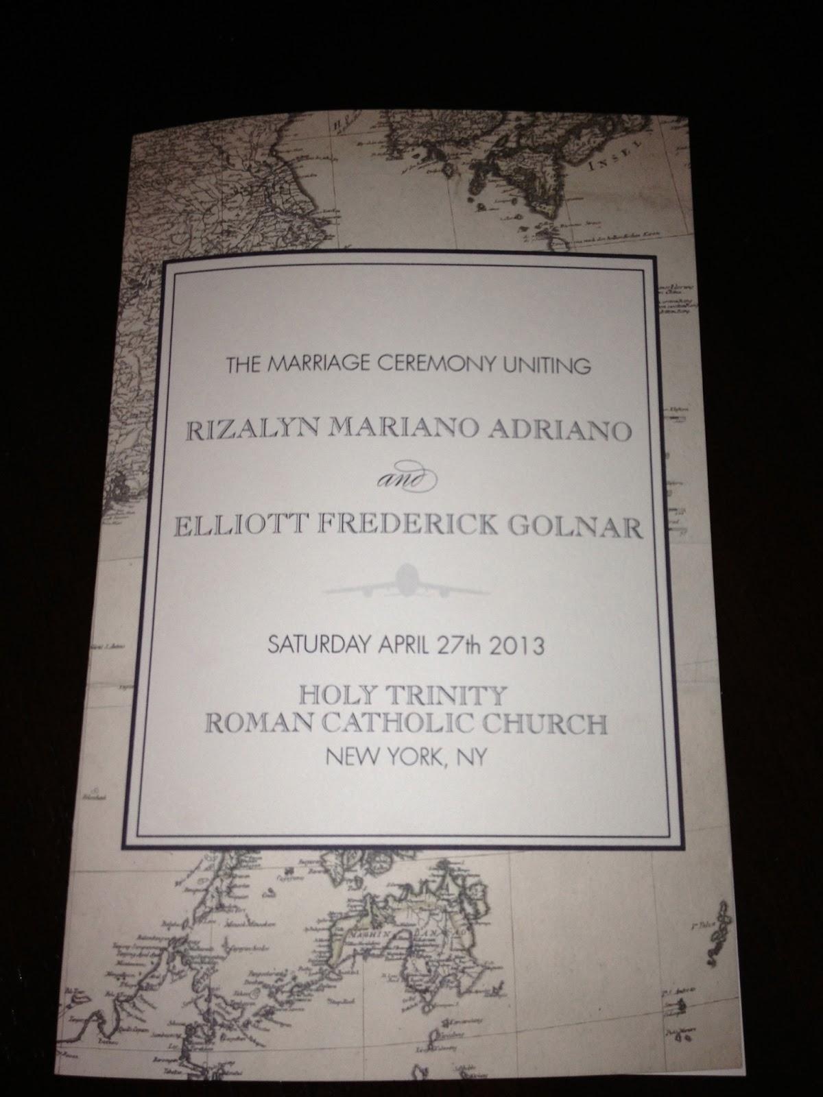 Gracefully Dunn: Travel Themed Wedding Program and Cards