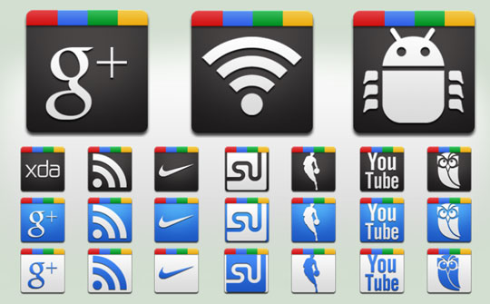 iconos de google +