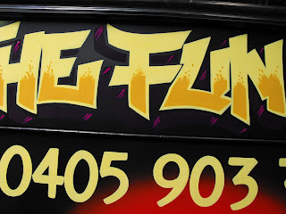 airbrush art bus dobell designs traditional signs aedan howlett and stu dobell Sydney New South Wales