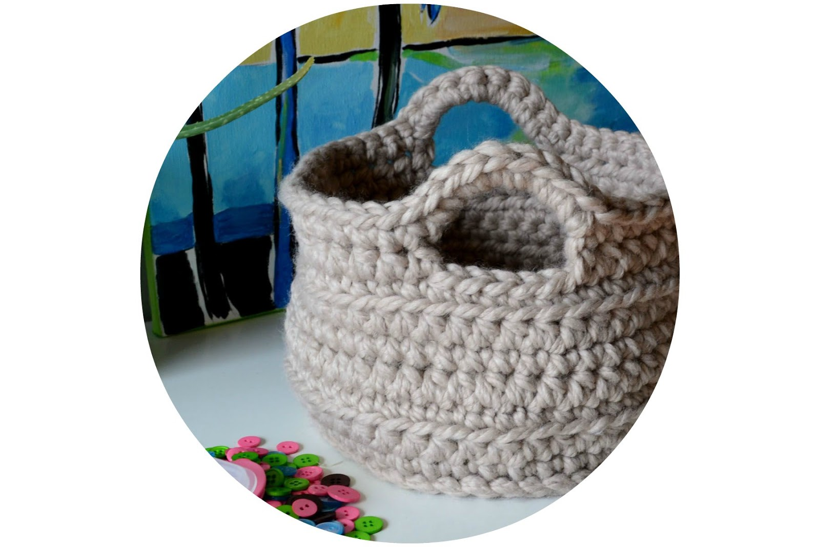 Letter Knitting Patterns : Crochet in Color: Chunky Crocheted Basket Pattern
