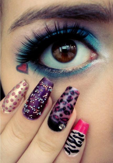 unique nail art design naillacquers