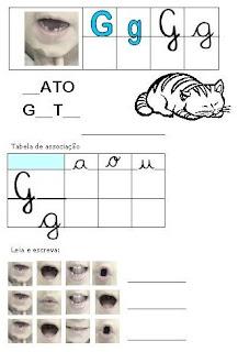 Atividades Alfabetização - Método Fônico G