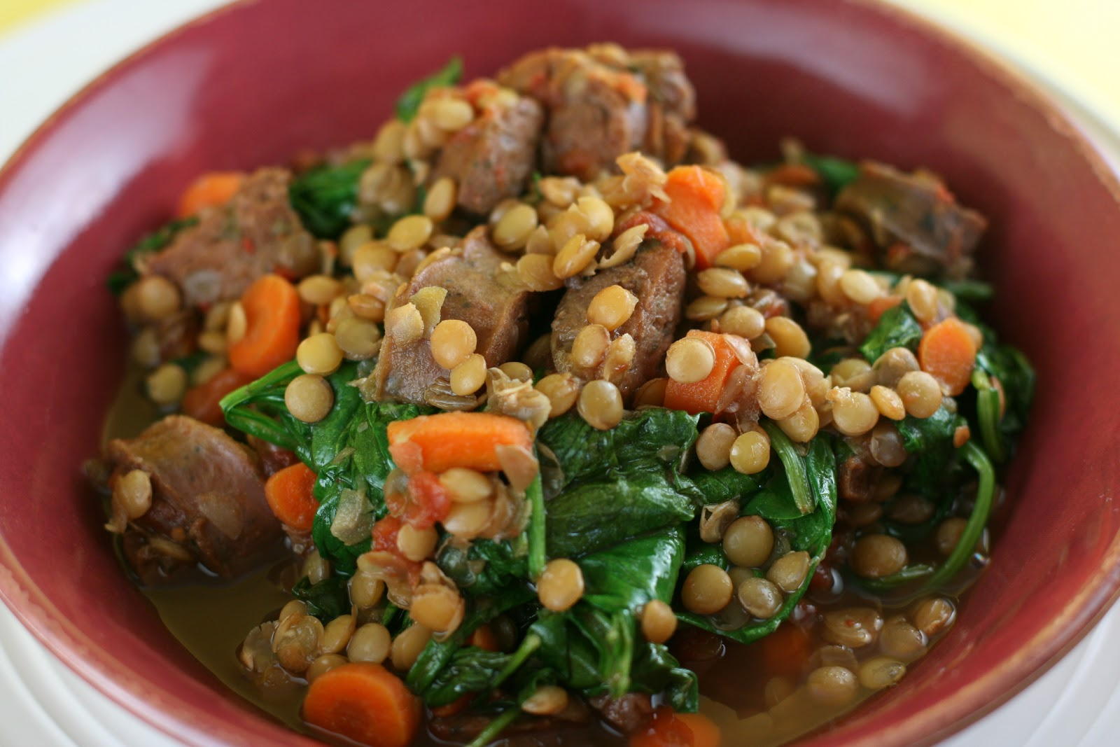 Sausage and Lentil Stew Slow Cooker Recipe - A Year of ...